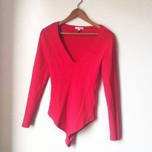 New York & Company Red Bodysuit